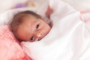 Small newborn girl
